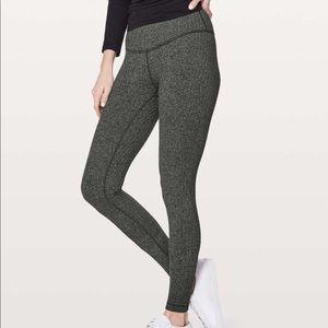 lululemon heathered gray wunder under leggings